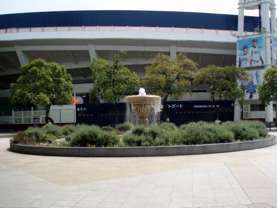 横浜スタジアム公園噴水