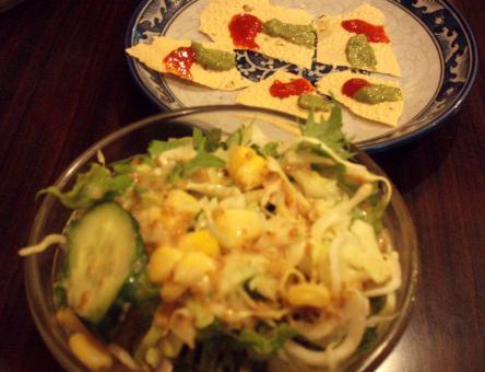 サラダとパパドゥ