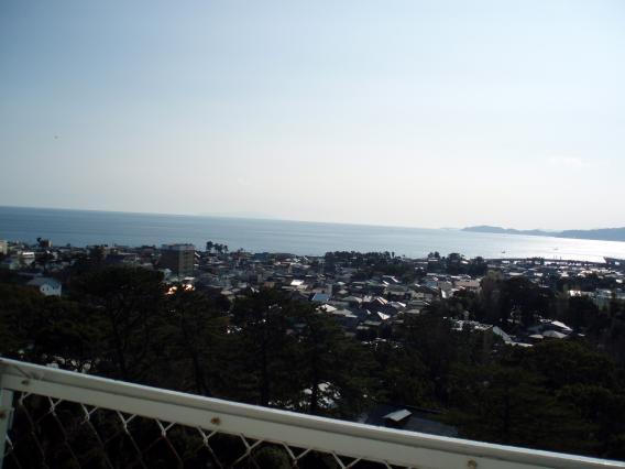 小田原城てっぺん眺め20150104 (8)