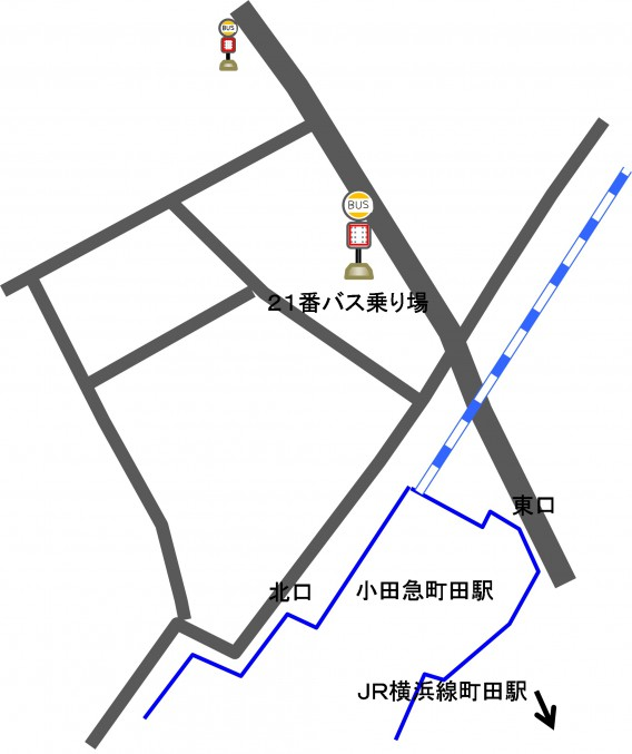 小田急町田駅バス乗り場アップ