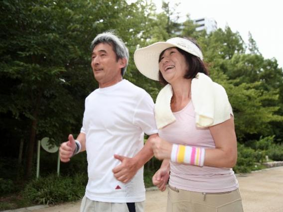 ジョギングカップル