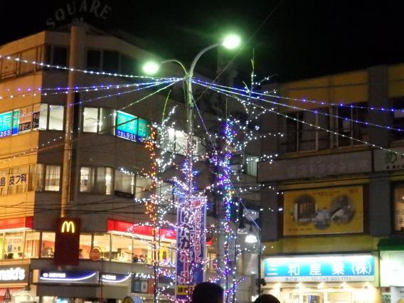 中山駅南口イルミネーション